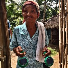 Met a very satisfied lady today. She has finally stopped using kerosene lamps after 70 years. #nokero #solarpower #smile #renewableenergy