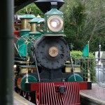 The train loops around the Magic Kingdom.