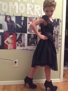 My little brother Jamie, is 8 years old and loves to wear dresses. Tonight was the first night I've ever put makeup on him. This is the happiest I've ever seen him. His dad (my step-dad) doesn't allow him to wear clothes like this, He says that dresses are made for girls and gay men. But my sister and I strongly disagree. Wearing dresses doesn't mean Jamie is gay, it means that he likes wearing dresses. I want my brother to grow up knowing it's OK being feminine and happy.