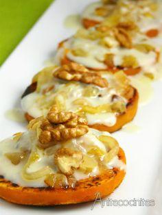 Anita Cocinitas: Calabaza a la plancha con gorgonzola y nueces. Se puede hacer con tomate?