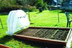 gliding cover for raised garden