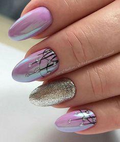 Nails Sencillas Primavera Pies Ideas For 2019 Fabulous Nails, Gorgeous Nails, Black Nail Designs, Nail Art Designs, Trendy Nail Art, Super Nails, Chrome Nails, Purple Nails, Pink Nail
