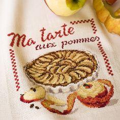 Torchon «Aux pommes» les brodeuses parisiennes