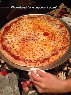 One Pepperoni Pizza, Please