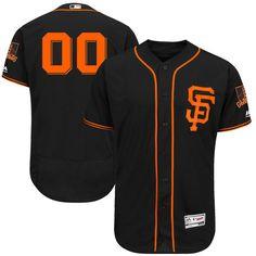 san francisco giants majestic alternate 2017 flex base authentic collection custom jersey black