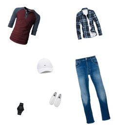 """Out of my comfort zone"" by leighaearly on Polyvore featuring STONE ISLAND, Movado, Vans, men's fashion and menswear"