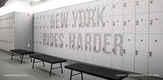 locks on Hollman lockers at Swerve Fitness NYC