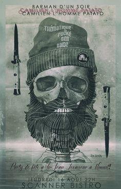 barbe poignards quebec scanner bistro skull