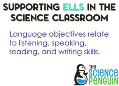 5 things to do when planning a science lesson-- plan language objectives for ELLs
