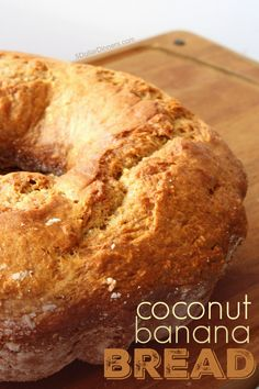 Love this fun twist on making banana bread (loaded with tropical coconuty flavors) in a bundt pan. Such a delightful breakfast or snack for you! | 5DollarDinners.com