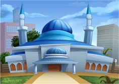 - Tools: Pencils - Software: Photoshop - Time: 24 Hours -- + See All Cartoon Movie's Background CMBG: Mosque 1 Happy Birthday Flower, Blue Mosque, Beautiful Nature Wallpaper, Cartoon Movies, Islamic Art, Taj Mahal, Beautiful Places, Clip Art, Deviantart