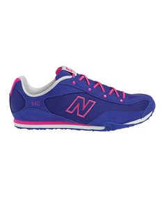 I really want this shoe. It's my wedding colors!!!  Take a look at this Blue & Pink W442 Running Shoe - Women by New Balance on #zulily today!