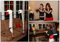 """Christmas """"Minute to Win it"""" games for a family party!"""