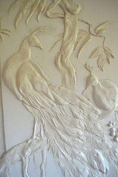 Фотографии Sculpture Painting, Mural Painting, Mural Art, Plaster Art, Plaster Walls, Peacock Wall Art, Art Decor, Decoration, 3d Wall Murals