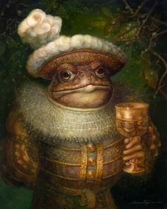 Could this be a bewitched prince in the guise of a toad? TheToad by *PinkParasol on deviantART