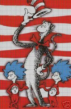 Cat In The Hat & Friends Crochet Pattern