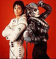 Captain EO and The Supreme Leader. Michael Jackson and Anjelica Huston.