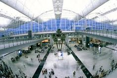 Hong Kong Airport.  As cool, if not cooler, than Schipol.  I don't think we have anything like these in the US.