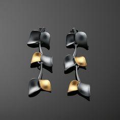 Nuppu mid earrings/ black edition | Chao & Eero shop #nuppu #chaoandeero #finnishdesign #finnishjewelry #keumboo Black Edition, Earrings, Shopping, Jewelry, Stud Earrings, Bijoux, Ear Piercings, Jewlery, Jewels