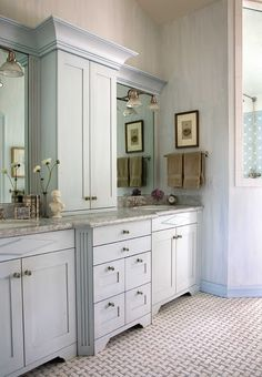 Like the color on the cabinets. and the wall looks like it's chalk paint.