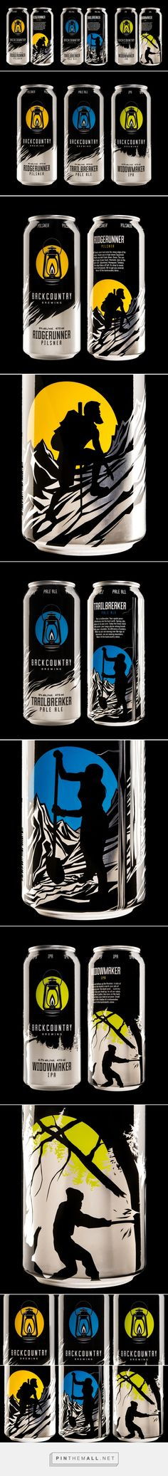 Backcountry Brewing Beer - Packaging of the World - Creative Package Design Gallery - http://www.packagingoftheworld.com/2017/05/backcountry-brewing.html