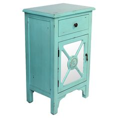 Found it at Wayfair - Mirror Insert Wooden Cabinet in Turquoise
