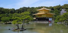 """""""Kinkakuji (金閣寺, Golden Pavilion) is a Zen temple in northern Kyoto whose top two floors are completely covered in gold leaf. Japan Honeymoon, Kyoto Travel Guide, Japan Guide, Images Google, Kyoto Japan, Beautiful Architecture, Japan Travel, Dream Vacations, Places To Go"""