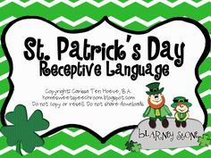 Home Sweet Speech Room : St. Patrick's Day Receptive Language Packet