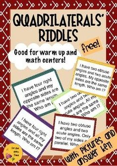 Ever wonder how you could get your son or daughter to be more interested in math? Math is hard work, but with some fun maths games, you can capture their attention while they learn. So, how can you find some fun maths games? Math Tutor, Math Teacher, Math Classroom, Teaching Math, Teaching Ideas, Teaching Geometry, Math Education, Teacher Stuff, Classroom Ideas