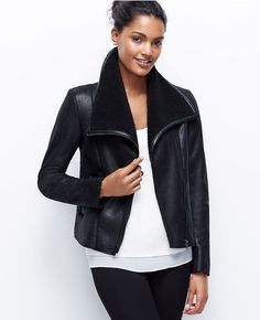 Thumbnail Image of Primary Image of Faux Leather and Shearling Jacket