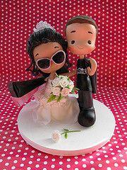 The World's Best Photos by Patricia Tiyemi ^. Custom Wedding Cake Toppers, Wedding Cakes, Wedding Doll, Cupcakes, Pasta Flexible, World Best Photos, Clay Art, Bride Groom, Fondant