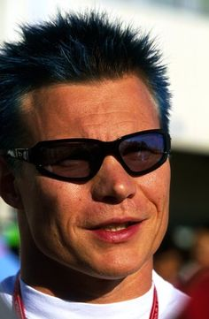 6cc18a2905f Mika Salo (FIN) Toyota died his hair blue for what is expected to be his  final GP. Formula One World Championship