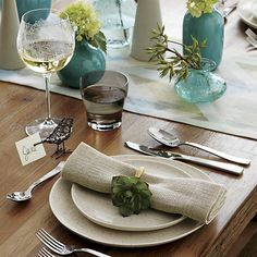 I want these napkin rings so bad, even though I don't have napkins or a kitchen for them to go in. minor detail.   Succulent Napkin Ring in Napkin Rings | Crate and Barrel