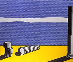 Roy Lichtenstein 1965 - RUINS - Oil and magna on canvas x 200 cm) Roy Lichtenstein Pop Art, Jasper Johns, Robert Rauschenberg, Paul Klee, Arte Pop, Pablo Picasso, Industrial Paintings, Classical Realism, Oil Canvas