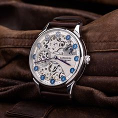 Longines Skeletonized - Vintage swiss watch – Patina Original Mens Skeleton Watch, Swiss Watch Brands, Custom Leather, Watches, Classic, Accessories, Vintage, Derby, Wristwatches