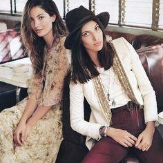 Ruby e Lily Aldridge #rubyaldridge #lilyaldridge #sisters #model #angel