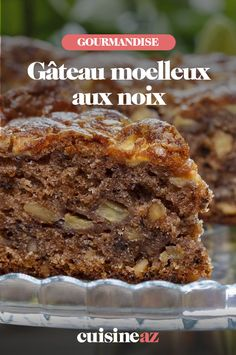 The soft nut cake is an easy and economical fall pastry. Healthy No Bake Cookies, Easy Cookie Recipes, Best Dessert Recipes, Cake Recipes, Fun Recipes, Healthy Recipes, Chocolate Chip Cookies, 3 Ingredient Desserts, Peanut Butter No Bake