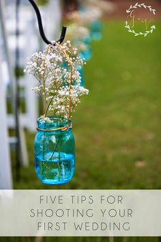 Five Tips for Shooting Your First Wedding from Madison of the Wetherills Say I Do.
