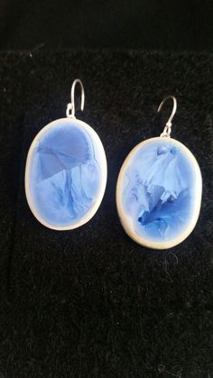 Oceanic porcelain earrings