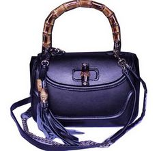 Réplique Gucci New Bamboo Top Handle Sacs 240242 Noir, sac a main tendance 54b04a521ba