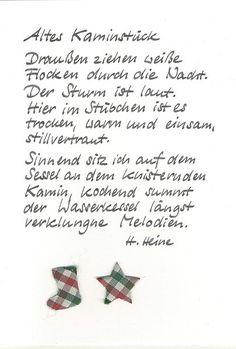 Weihnachtskarte Kamin von Kartenfreude auf DaWanda.com