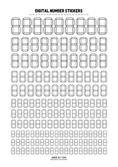 Notes Template, Planner Template, Templates, Study Planner, Number Stickers, Stationery Items, Journal Stickers, Good Notes, Writing Paper