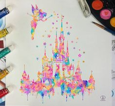 "10k Likes, 206 Comments - Ronald Restituyo (@ronaldrestituyo) on Instagram: ""For the disney art lovers, here is my version of the castle silhouette! Hope you like❤ it! For…"""