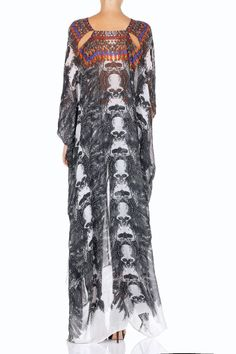 CAMILLA - INNER ANARCHIST BELTED KAFTAN WITH ARM DETAIL