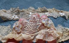 Antique French Embroidered Trim Vine Garland by AntiqueDelights