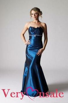 long blue evening dresses