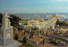 The story goes (according to my mother) that Queen Victoria's arm had to be broken and then reset as she was pointing to the newly completed public conveniences. Southend on Sea pier
