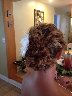 Wedding hair, natural curls, up do