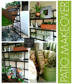 Upcycled Bakeru0027s Rack To Patio Esential | Bakers Rack, Repurpose And  Repurposing