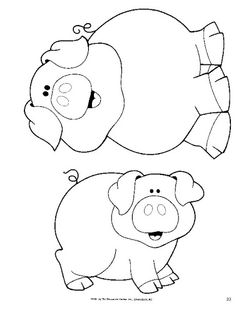 Animal Art Projects For Toddlers Coloring Pages Ideas Felt Ornaments Patterns, Felt Crafts Patterns, Applique Patterns, Embroidery Applique, Animal Art Projects, Toddler Art Projects, Farm Animal Coloring Pages, Coloring Books, Colouring
